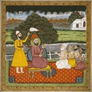 Guru Nanak with Hindu Holy men