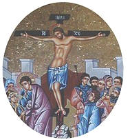 Jesus icon on the cross