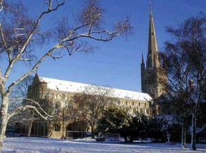Norwich Cathedral in December